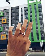 Джгутик - серебряное кольцо 925 пробы