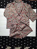 Пижама женская (рубашка и шорты)