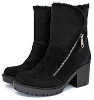 Женские зимние ботинки Roberto Netti, замшевые