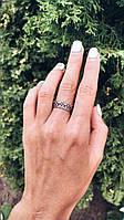 Цветочная корона - серебряное кольцо 925 пробы