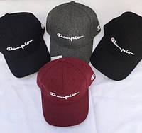 Оригинальные зимние шерстяные кепки бейсболки CHAMPION. Отличное качество. Доступная цена. Дешево. Код: КГ2635