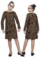 Платье  детское с рукавом М -1115 рост 110 116 12 128 134 140 146 152 158 164 170 полушерсть, фото 1