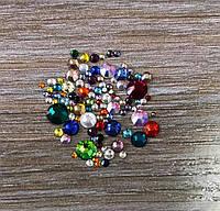 Камни Микс стекло 1440 шт  разноцветные