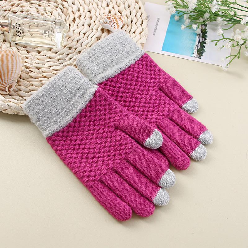 Перчатки для сенсорных экранов Touch Gloves Liberty crimson