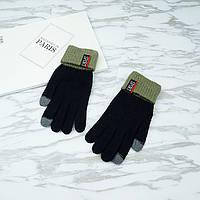 Перчатки мужские для сенсорных экранов Gloves Sport Touch black-green