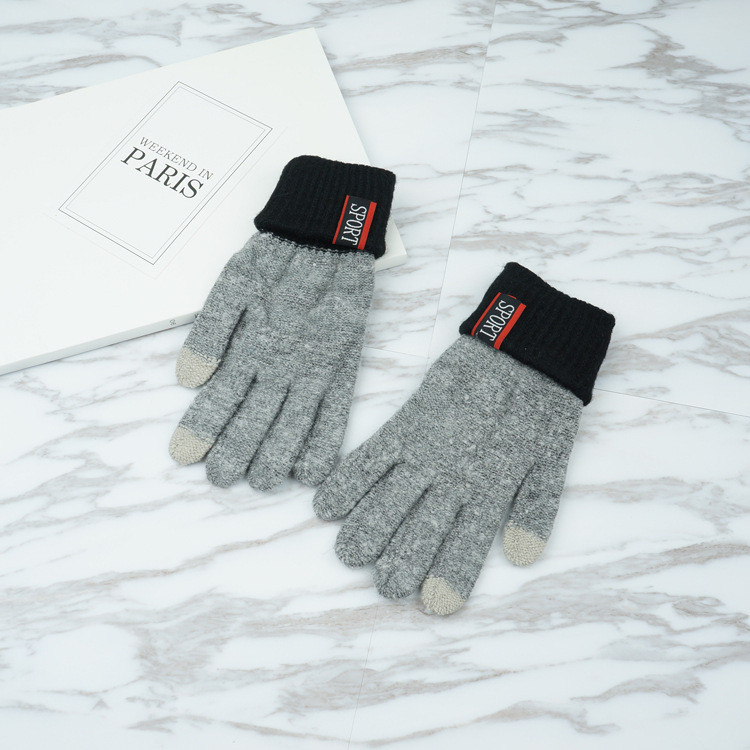 Перчатки мужские для сенсорных экранов Gloves Sport Touch gray-black