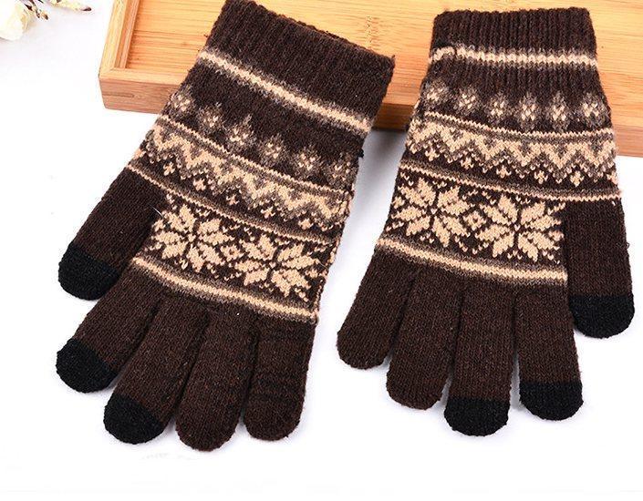 Перчатки для сенсорных экранов Touch Gloves SnowStars black-brown