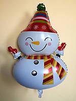"""Фольгированный шар """"Снеговик"""" 70×50 см"""