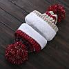 Вязаный комплект женский шапка, шарф и варежки Caple red, фото 3