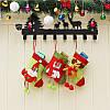Рождественские конфеты Сумка чулок Санта-Клауса носок подарков Сумка Bauble Рождественская елка украшения декор подарки