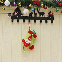 Рождественские конфеты Сумка чулок Санта-Клауса носок подарков Сумка Bauble Рождественская елка украшения декор подарки, фото 3