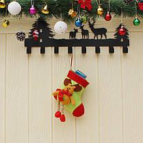 Рождественские конфеты Сумка чулок Санта-Клауса носок подарков Сумка Bauble Рождественская елка украшения декор подарки, фото 2