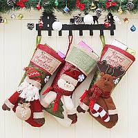 Рождественские конфеты Сумка чулок прекрасный Санта-Клауса носок подарков Сумка Bauble Рождественская елка украшения декор