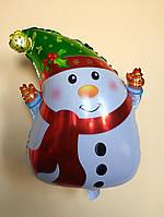 """Фольгированный шар """"Снеговик"""" 50×35 см"""