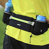 Спортивная сумка-пояс с карманами для бутылок  ROMIX RH09B черный