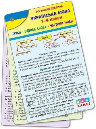 Усі базові правила. Українська мова 1-4 класи