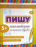 Прописи навчалочки: Пишу английские печатные буквы (р)