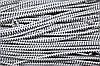 Резинка круглая, шляпная 2.5мм, белый+черный