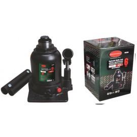 Домкрат бутылочный двухштоковый с клапаном + дополнительный ремкомплект, 6т (высота подхвата - 215мм, высота п