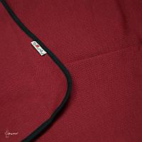 Плед из шерсти мериноса MAM ManyMonths (бордовый с чёрной каймой)