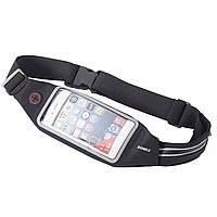 Пояс-сумка с сенсорным экраном 5.5 + карман ROMIX RH16-5.5B черный
