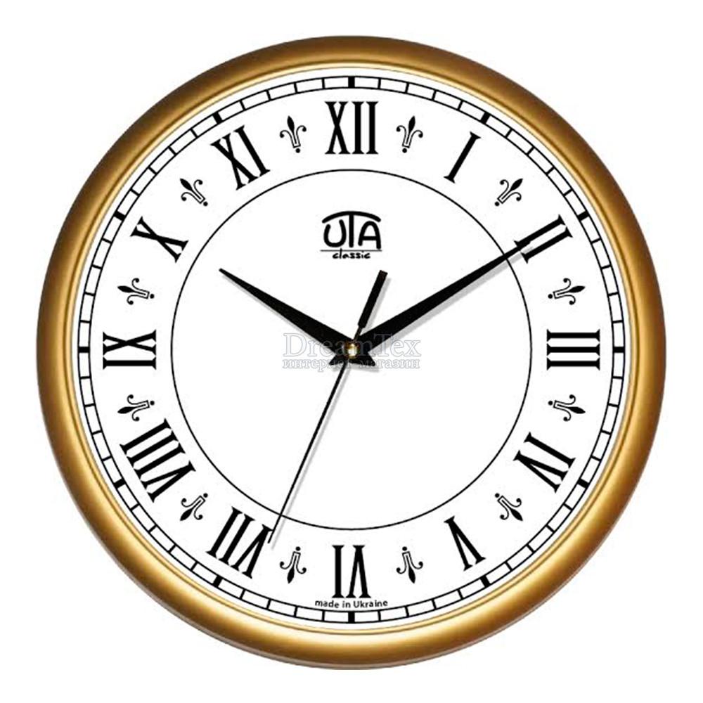 """Часы настенные ЮТА Classic """"01 G 42"""" 300х300х45 мм"""