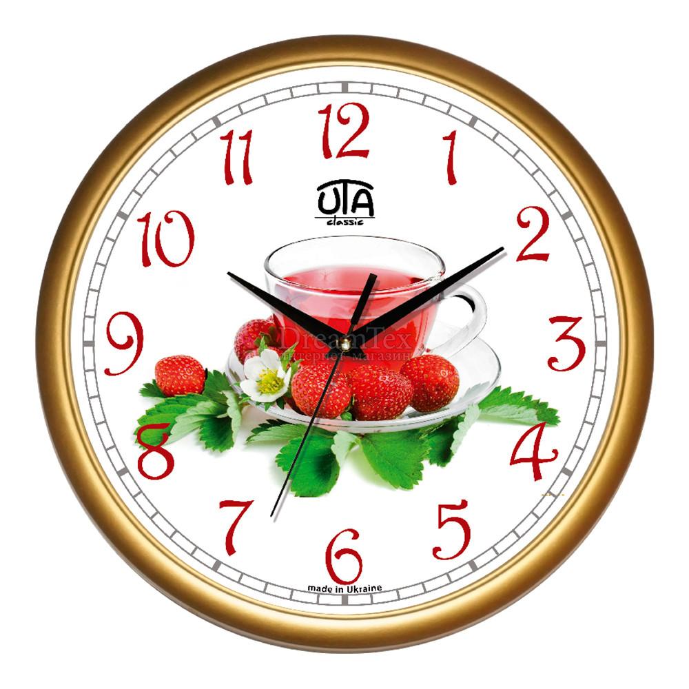 """Часы настенные ЮТА Classic """"01 G 69"""" 300х300х45 мм"""
