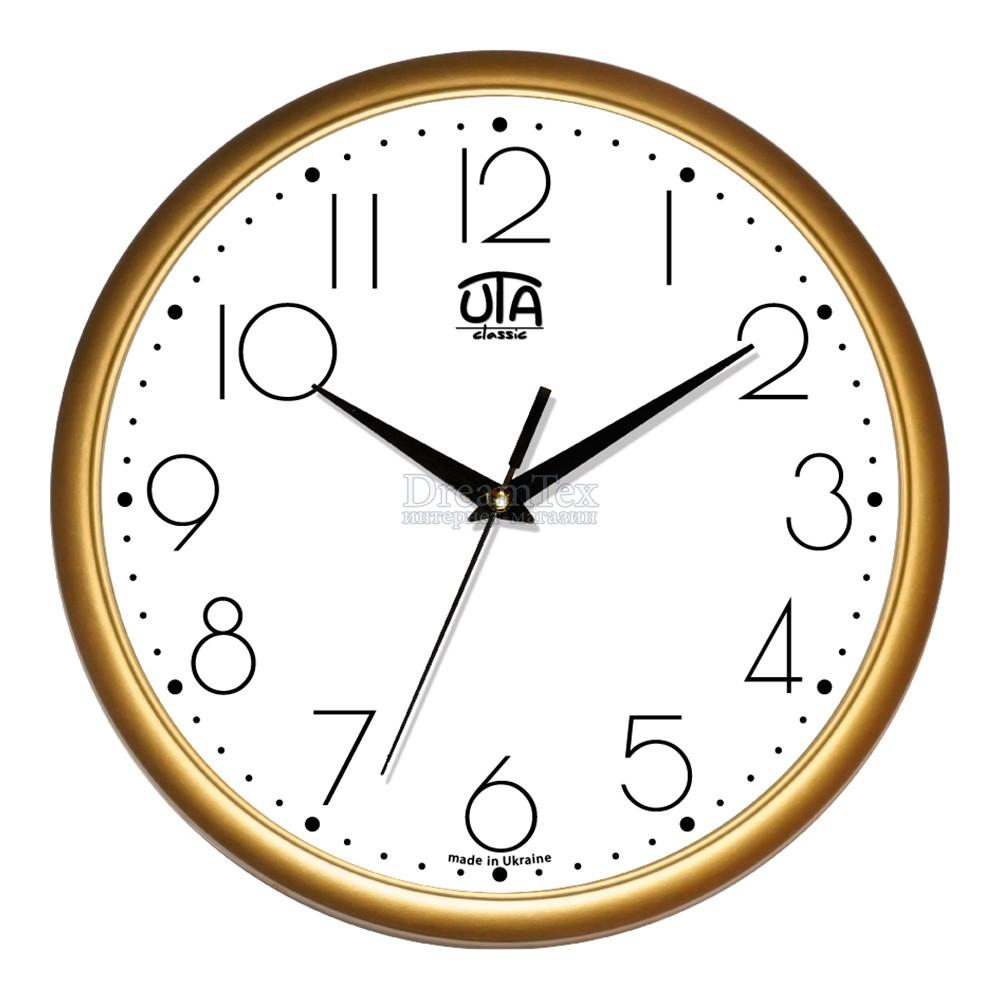 """Часы настенные ЮТА Classic """"01 G 75"""" 300х300х45 мм"""