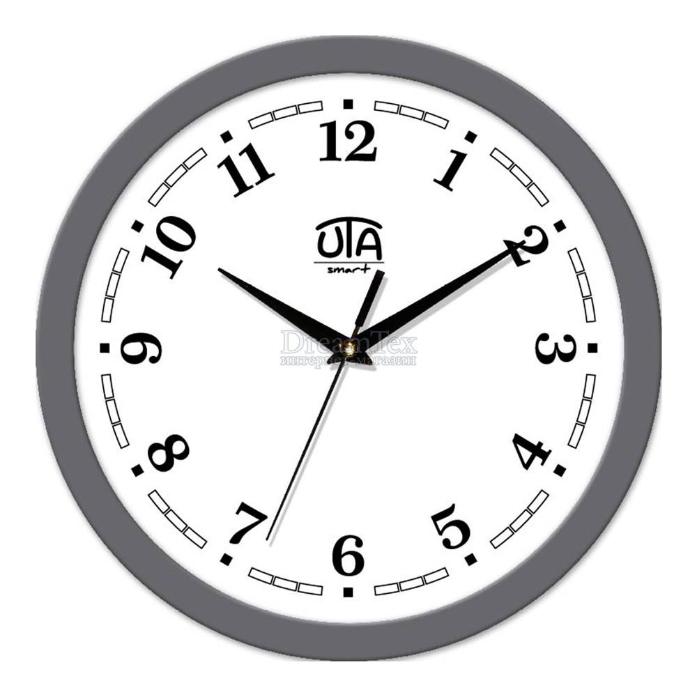 "Часы настенные ЮТА Smart ""21 GY 01"" 265х265х35 мм (механизм плавного хода)"