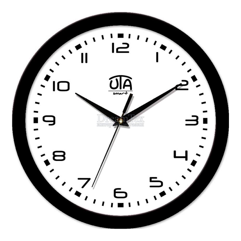 "Часы настенные ЮТА Smart ""21 B 06"" 265х265х35 мм (механизм плавного хода)"