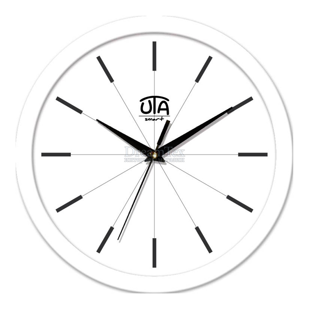 "Часы настенные ЮТА Smart ""22 W 08"" 265х265х35 мм (механизм плавного хода)"