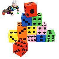 12Pcs Большой Jumbo Красочные пены Кости Дети Детские Воспитательная игра Игрушка Puzzle Game