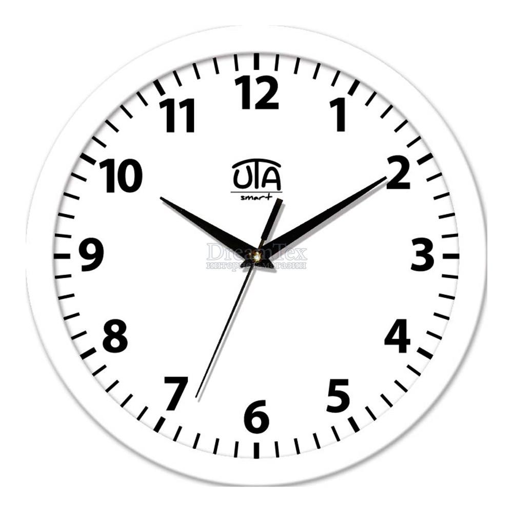 "Часы настенные ЮТА Smart ""21 W 15"" 265х265х35 мм (механизм плавного хода)"