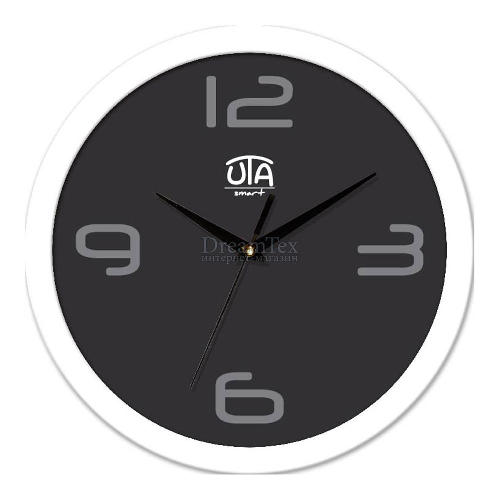 "Часы настенные ЮТА Smart ""21 W 25"" 265х265х35 мм (механизм плавного хода)"