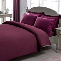 Постельное белье Tac Premium Basic Stripe фиолетовое евро размер