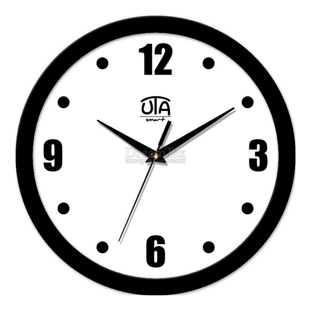 """Часы настенные ЮТА Smart """"21 B 07"""" 265х265х35 мм (дискретный механизм)"""