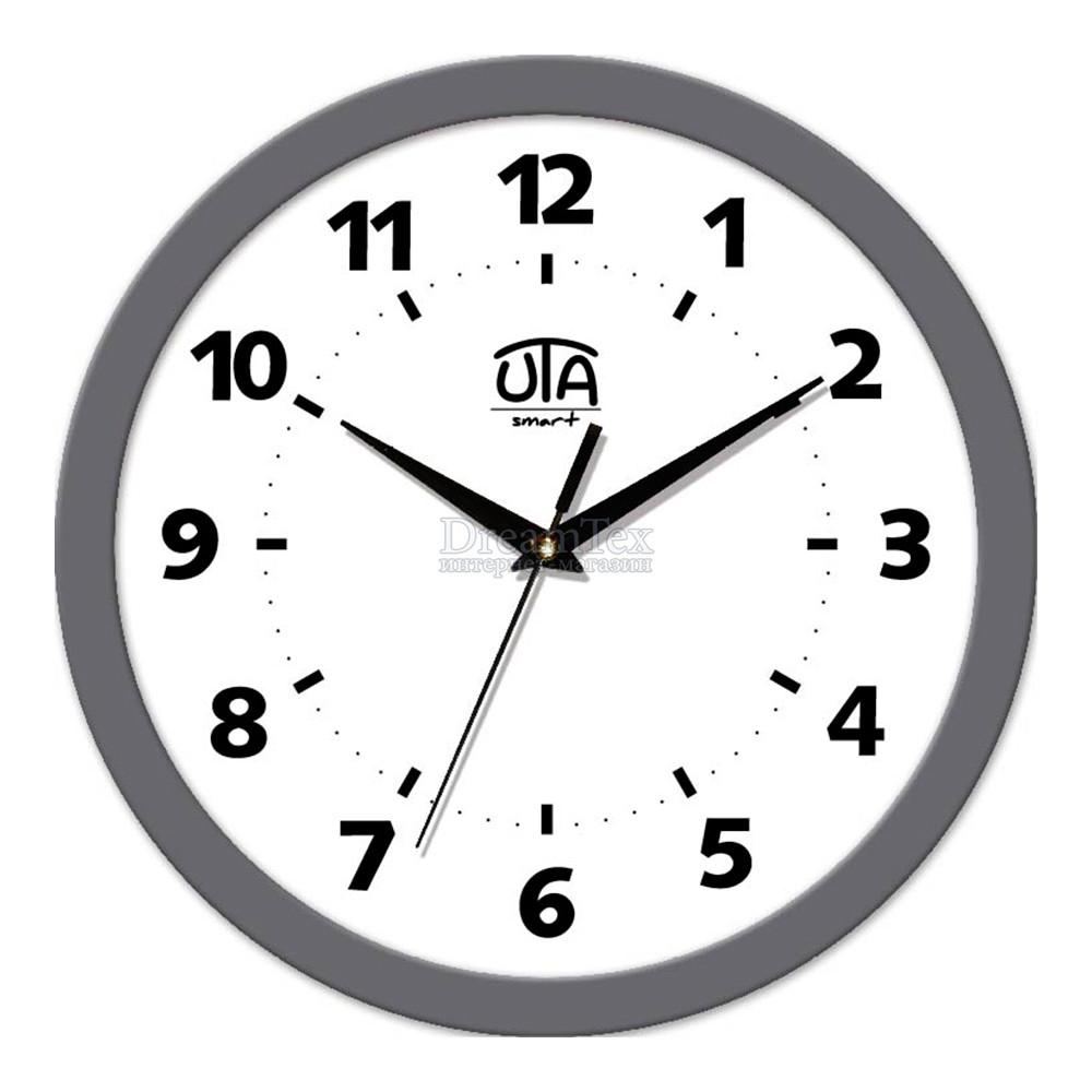 """Часы настенные ЮТА Smart """"21 GY 14"""" 265х265х35 мм (дискретный механизм)"""