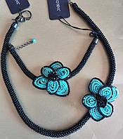 Набор чешской бижутерии Летние цветы колье и браслет