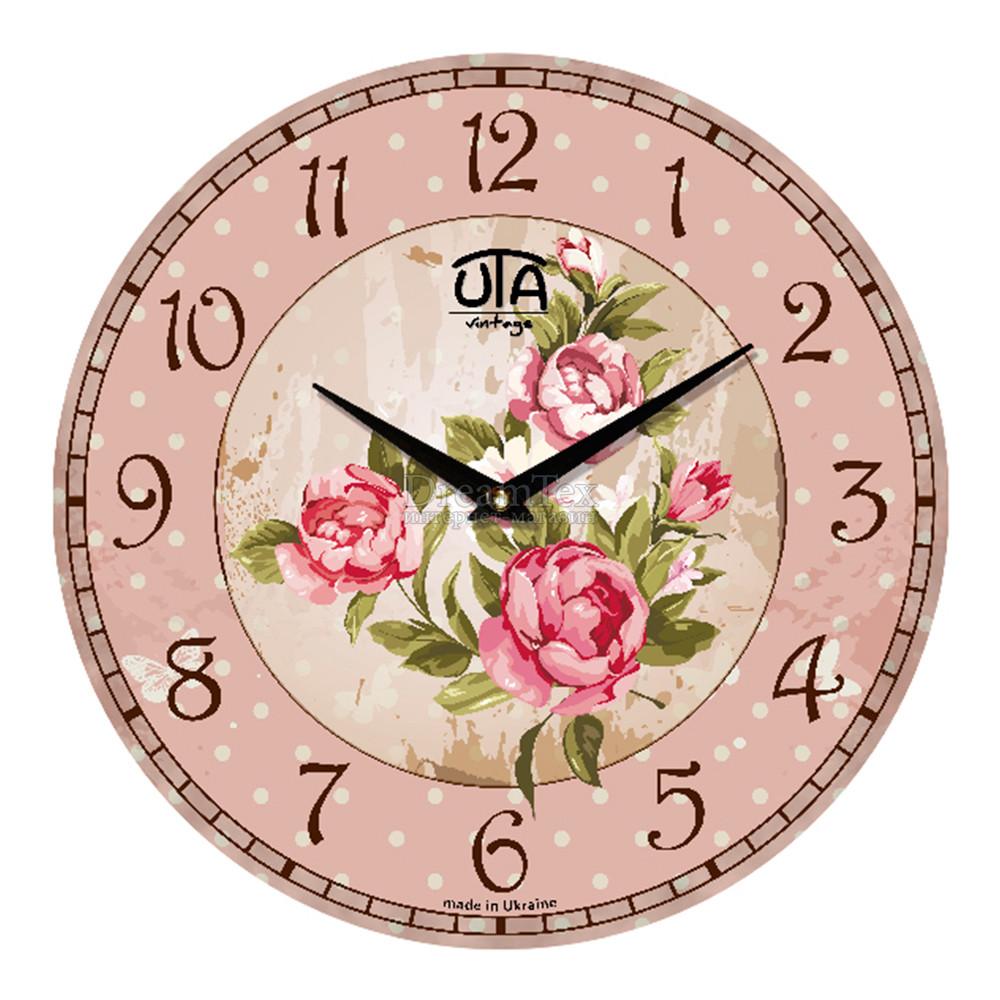 """Часы настенные ЮТА Vintage """"004 VP"""" 330х330х30 мм"""