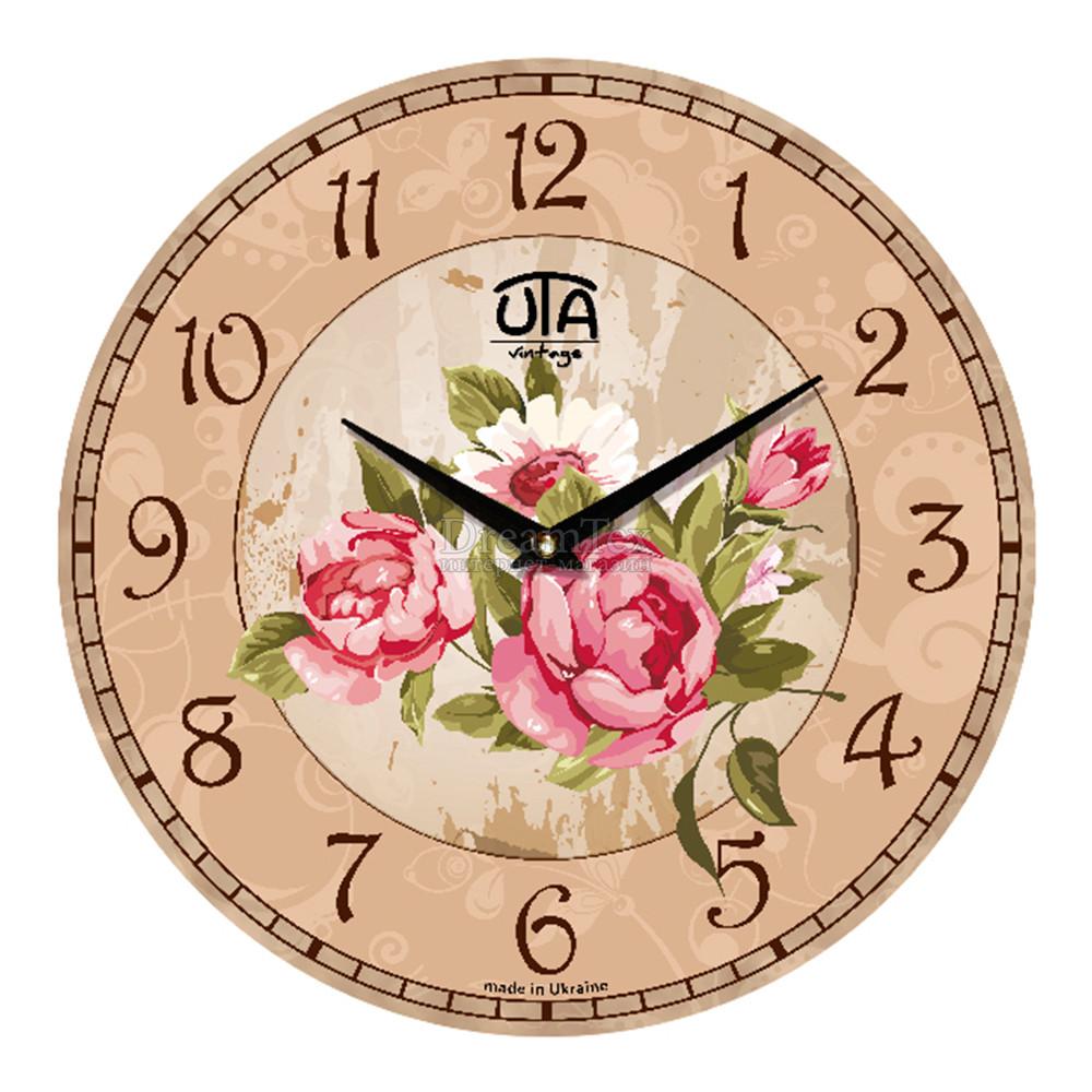 """Часы настенные ЮТА Vintage """"008 VP"""" 330х330х30 мм"""