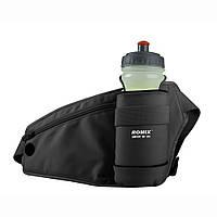 Спортивная сумка-пояс с карманом для бутылки  ROMIX RH23B черный