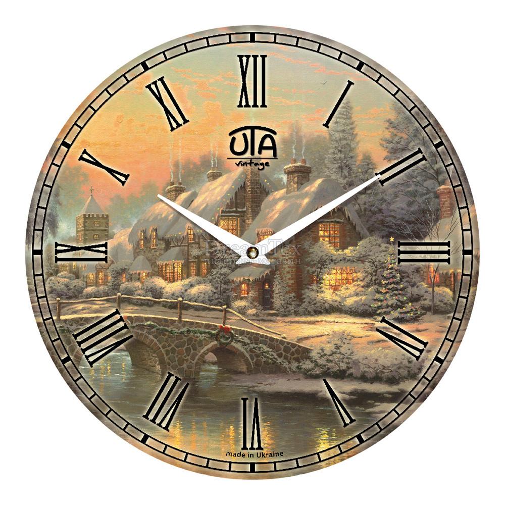 """Часы настенные ЮТА Vintage """"021 VP"""" 330х330х30 мм"""