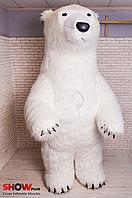 """Надувной Костюм ( Пневмокостюм, Пневморобот ) """" Белый Медведь длинный мех """", фото 1"""