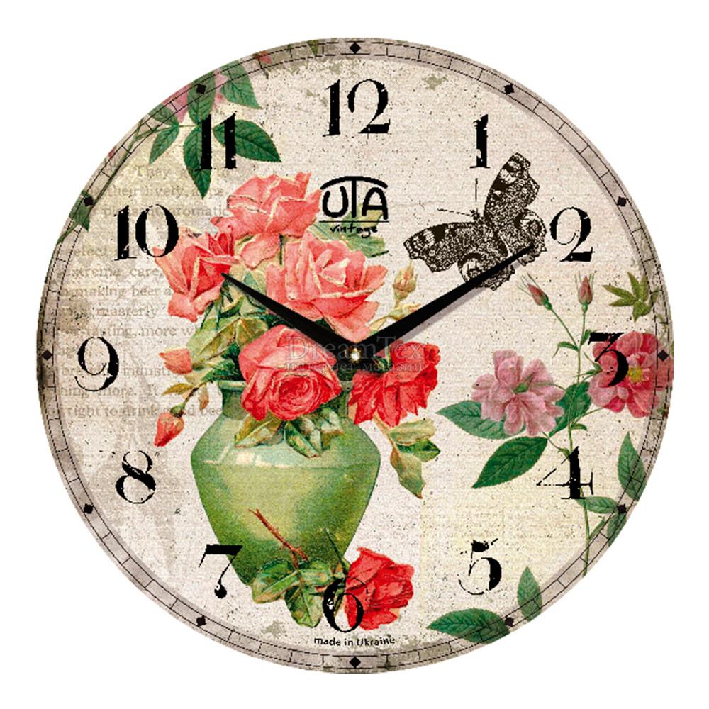 """Часы настенные ЮТА Vintage """"034 VP"""" 330х330х30 мм"""