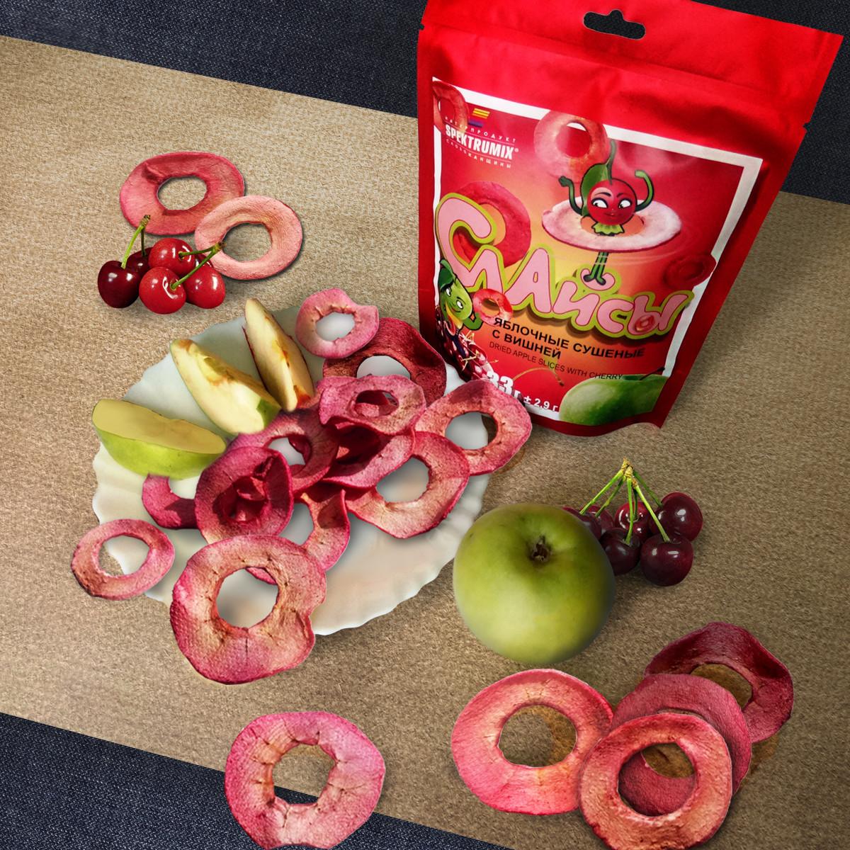 Фруктовые чипсы с вишневым соком 33 г, фото 1