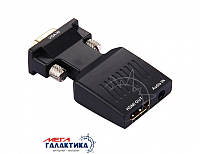 VGA to HDMI + Audio Video Output Converter Adapter HD 1080P for HDTV Monitor Projector Black