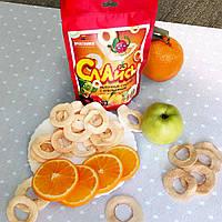 """Яблочные чипсы """"Слайсы яблочные сушеные"""" ( Апельсин ) 33 г , фото 1"""