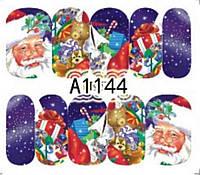 Слайдер  для ногтей 1144 Новогодний дизайн