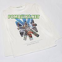 Детский реглан (футболка с длинным рукавом) р.110 для мальчика ткань 95% хлопок 5% вискоза 1069 Белый