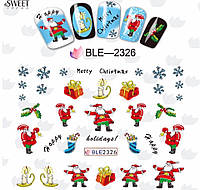 Слайдер  для ногтей 2326 Новогодний дизайн
